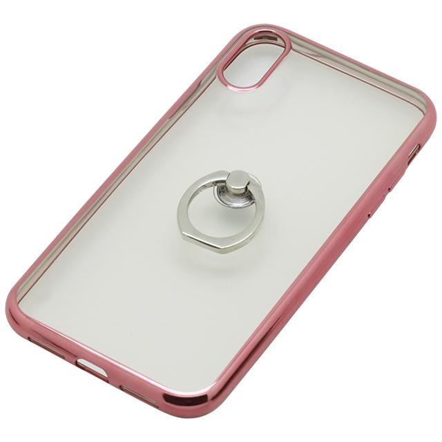 iPhoneXR用 6.1インチリング付ケースメッキ